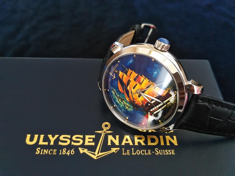 Реплика швейцарских часов Ulysse Nardin Classico Amerigo Vespucci Cloissone Dial