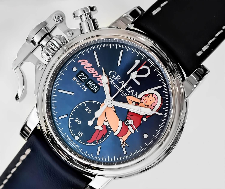 Часы Грэхэм с оригинальной заводной коронкой