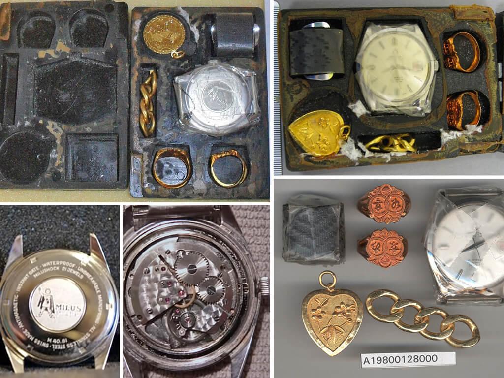 """""""Набор для выживания"""" Escape & Evasion Life Barter Kit - золотые украшения и швейцарские часы"""