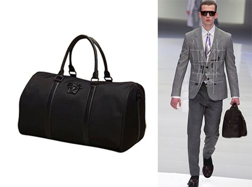 Мужская сумка Versace текстильная