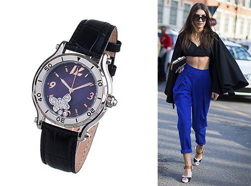 Женские часы Chopard с комбинированным стеклом sapflex glass и антибликом