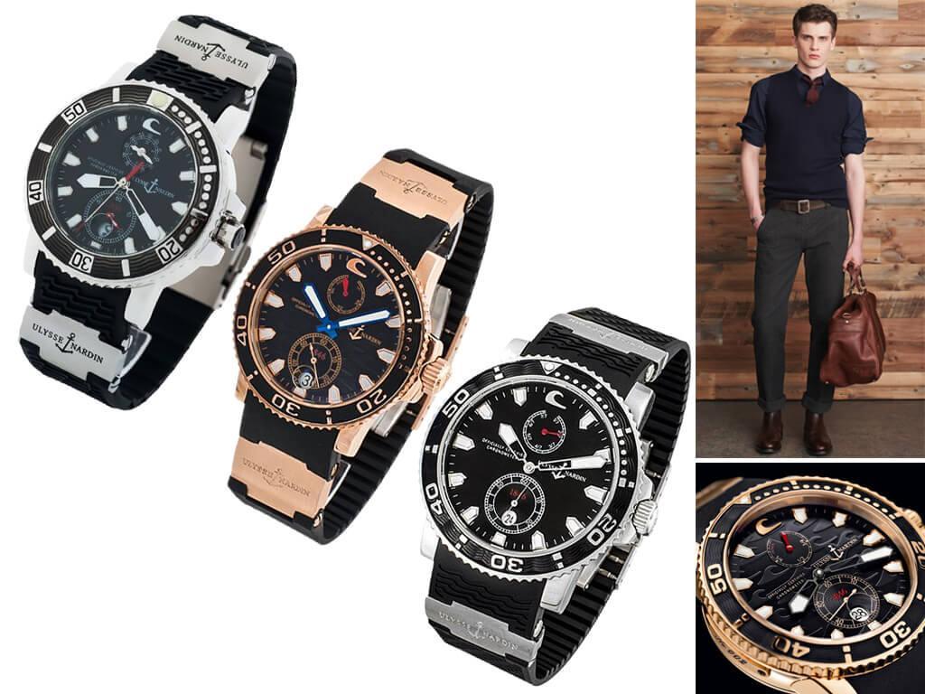 Мужские часы Ulysse Nardin из коллекции Black Surf