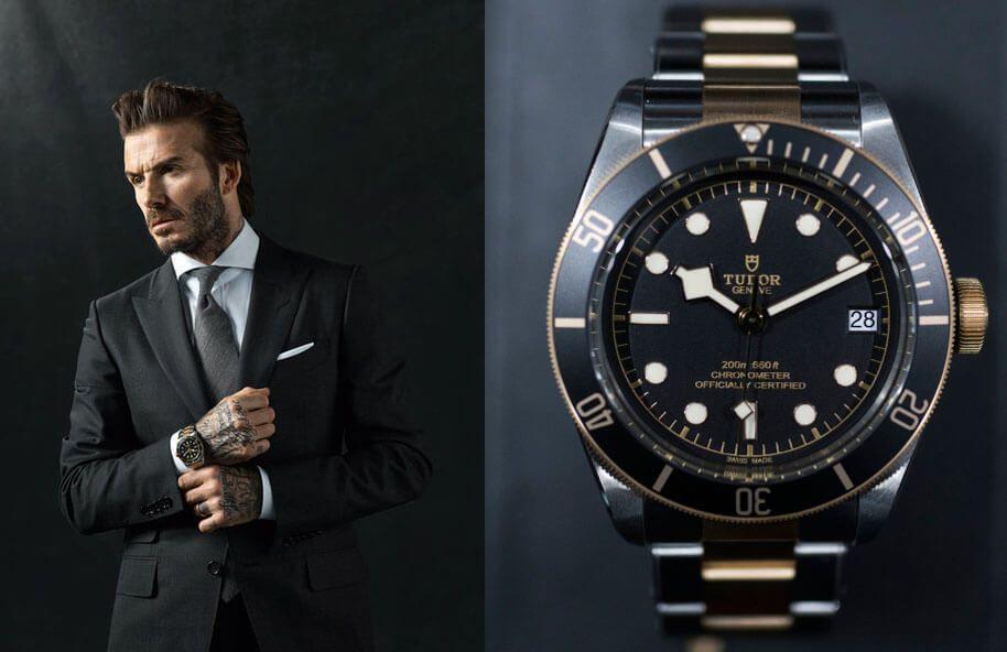 Дэвид Бэкхем и его часы Tudor Black Bay Steel & Gold