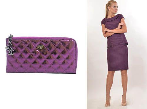 Клатч-сумка женская из кожи Шанель