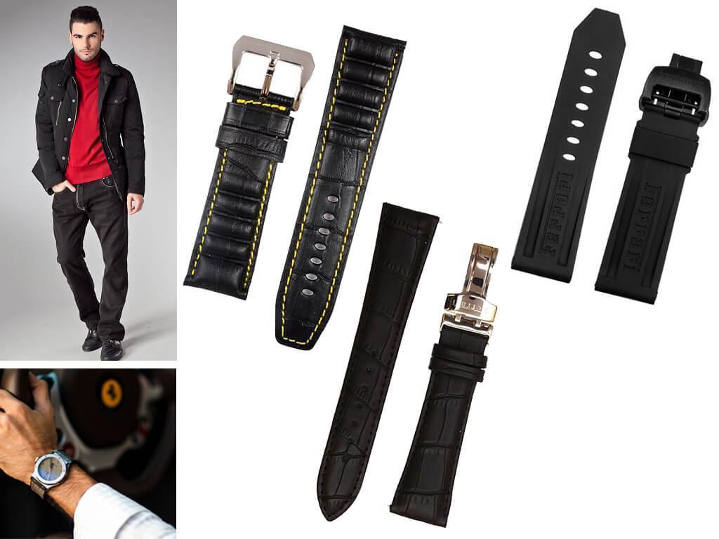 Супер прочный и выносливый ремешок на часы Феррари - для тех, кто ценит скорость и драйв