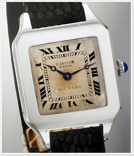Луи Картье (Louis Cartier) 1910 создает модель Santos Dumont мужские наручные часы необычной для того времени прямоугольной формы