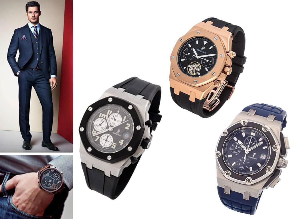 Мужские часы Адемар Пиге с ремешком