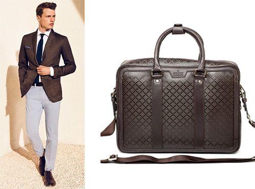 Мужская кожаная сумка Gucciот Гуччи