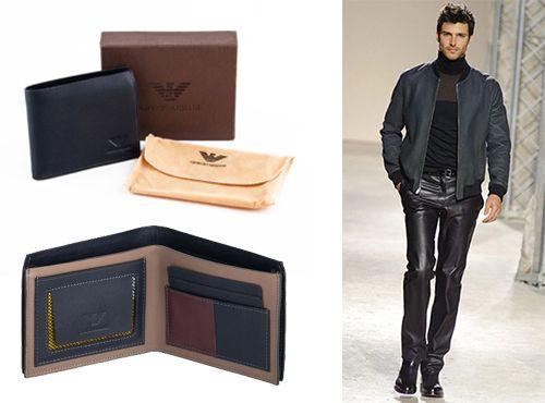 Мужской кошелек из кожи Giorgio Armani