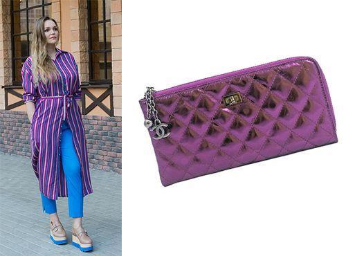 Клатч-сумка Chanel цвет фиолетовый