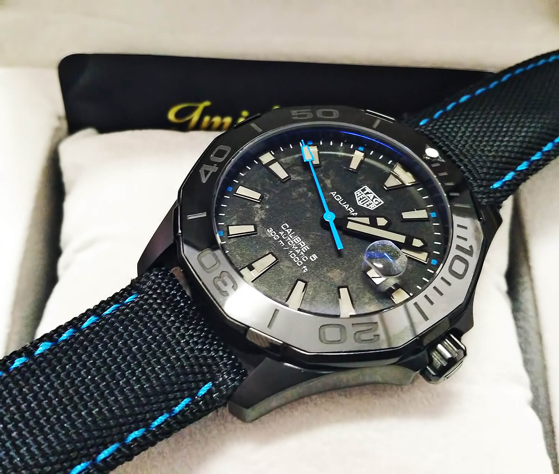 Реплика швейцарских мужских часов TAG Heuer Aquaracer Carbon Edition