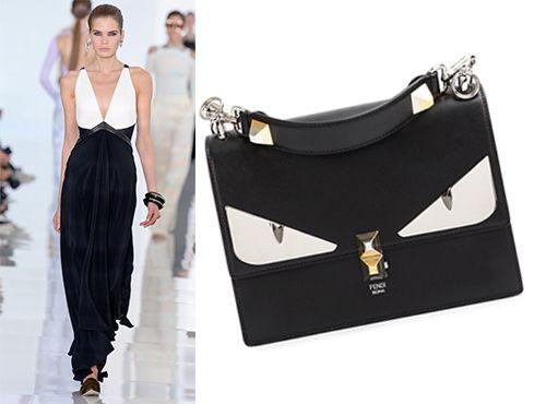 Женская кожаная сумка от Fendi