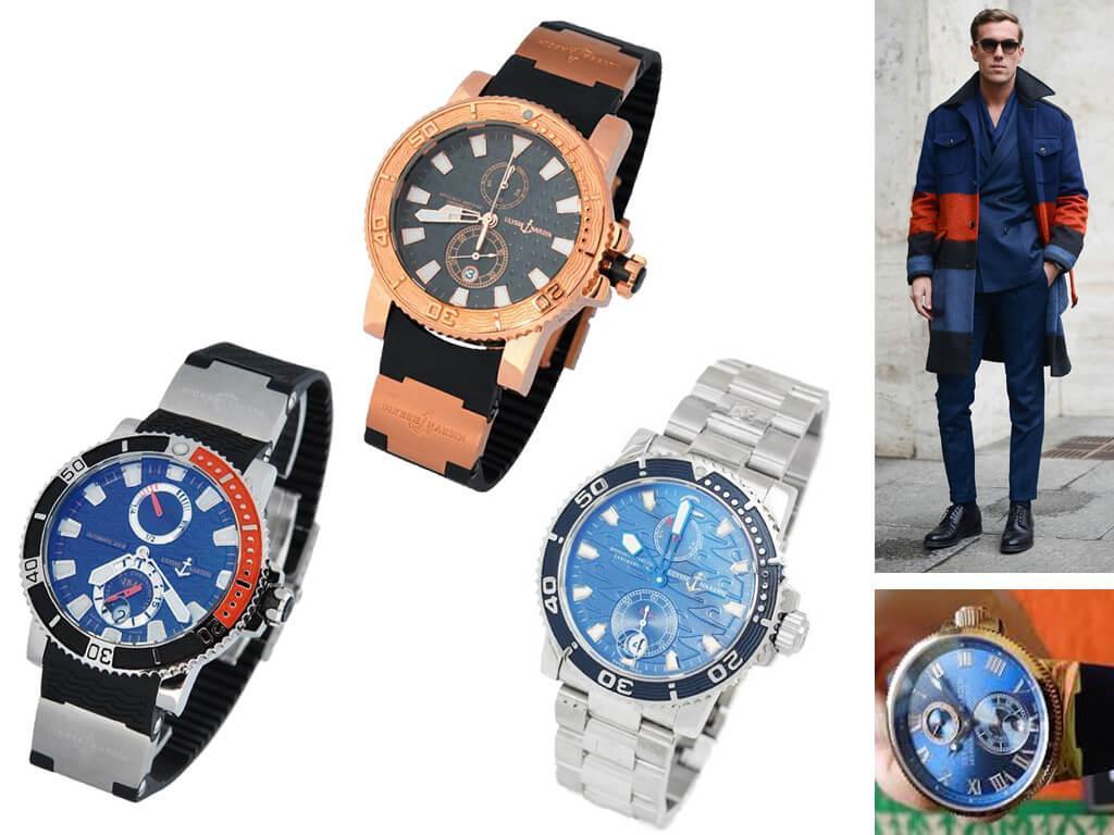 Мужские часы Ulysse Nardin Maxi Marine Diver из коллекции Diver