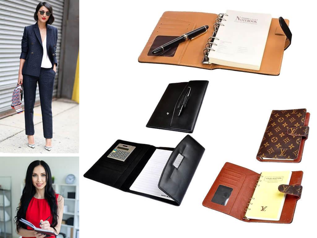 Блокнот-ежедневник в кожаной обложке