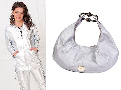 Белая кожаная женская сумка Jimmy Choo