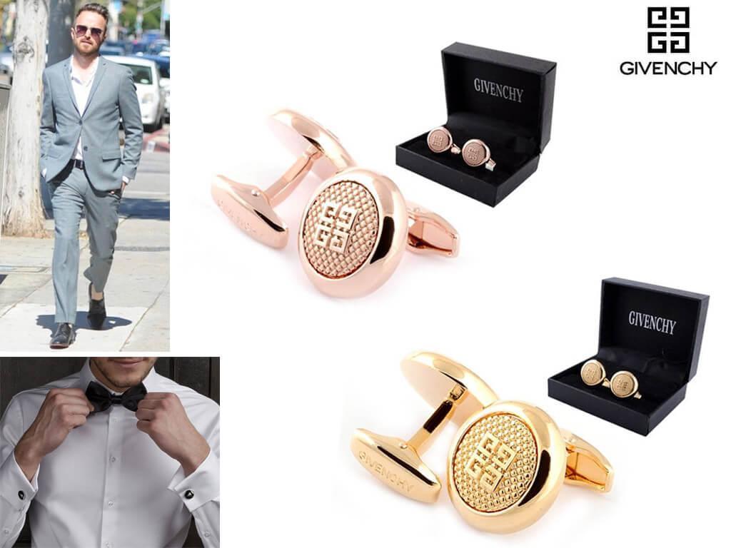 Запонки с гравировкой от Givenchy