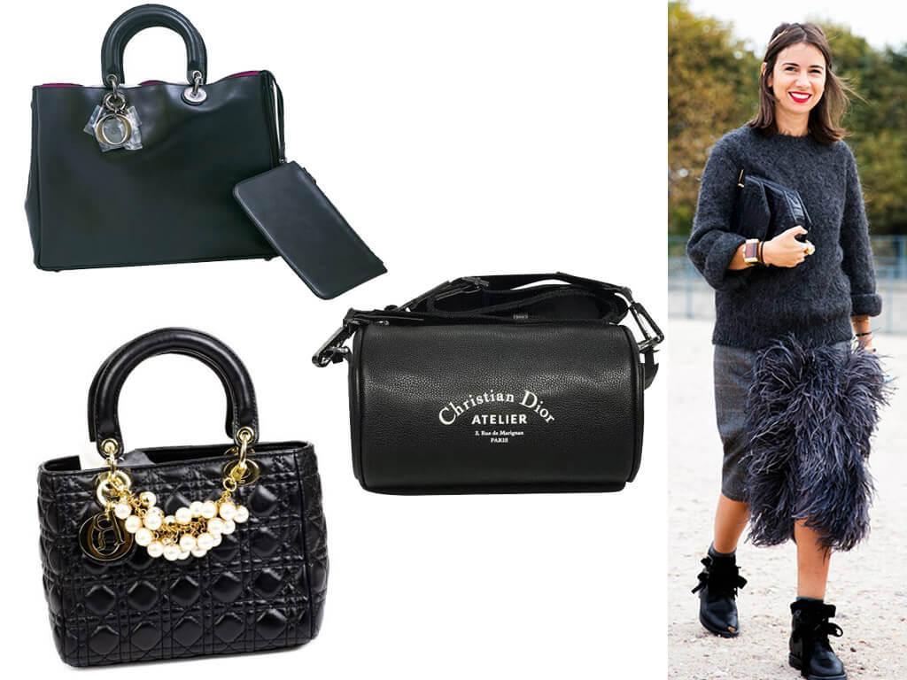 Женские кожаные сумки Christian Dior