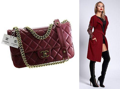 Клатч-сумка Chanel цвет бордовый