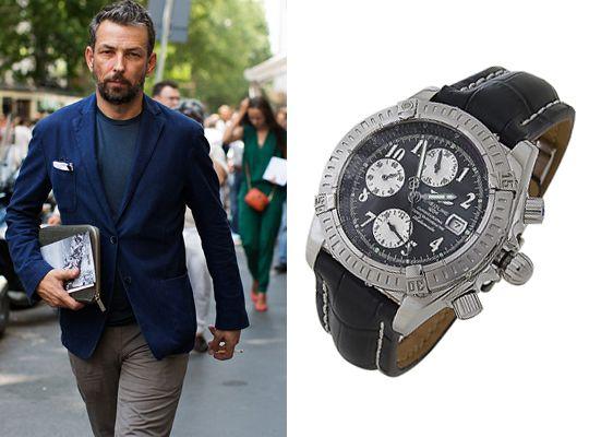 Мужские копии часов Breitling черный циферблат