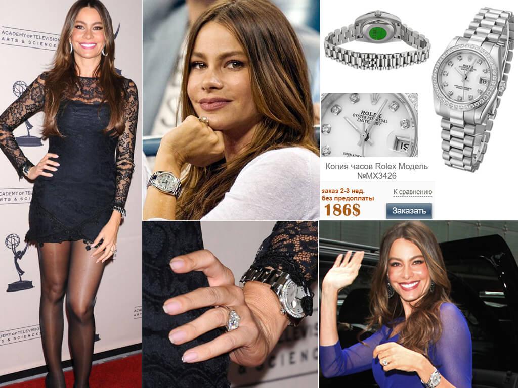 София Вергара и ее часы Rolex Datejust White Gold MOP Diamond