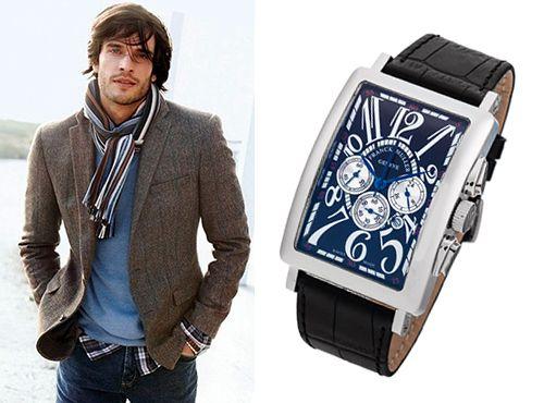 Мужская копия часов Франк Мюллер Лонг Айланд кожаный ремень