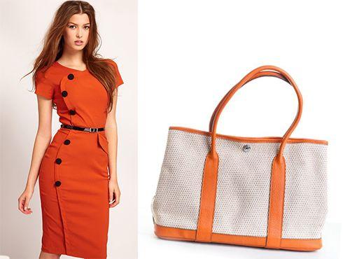 Текстильная сумка Hermes женская