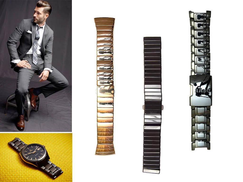 Керамические браслеты для часов Радо