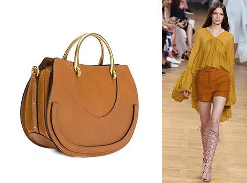 Женская сумка от Chloe из комбинированного материала
