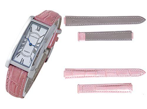 Розовый ремень для часов Cartier
