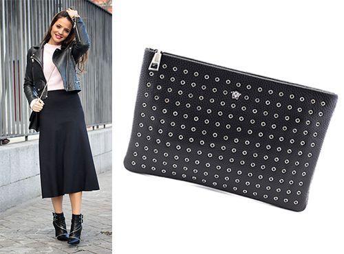 Брендовый клатч Versace концепта «black»