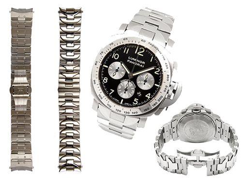 Серебристый ремень для часов Panerai