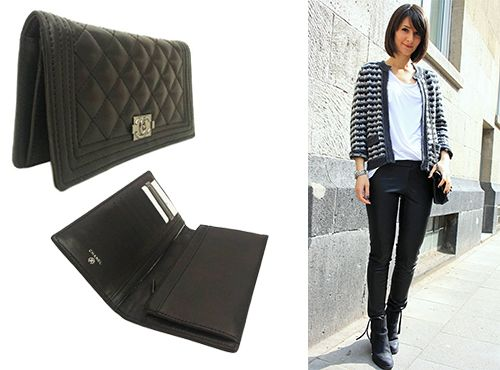 Кожаный женский бумажник Chanel