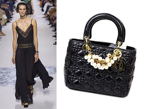 Женская кожаная сумка Christian Dior