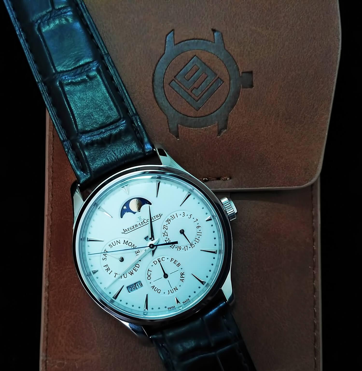 Точная реплика мужских швейцарских часов Jaeger-LeCoultre Master Ultra Thin Perpetual