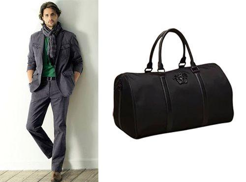 Мужская сумка Versace с короткими ручками