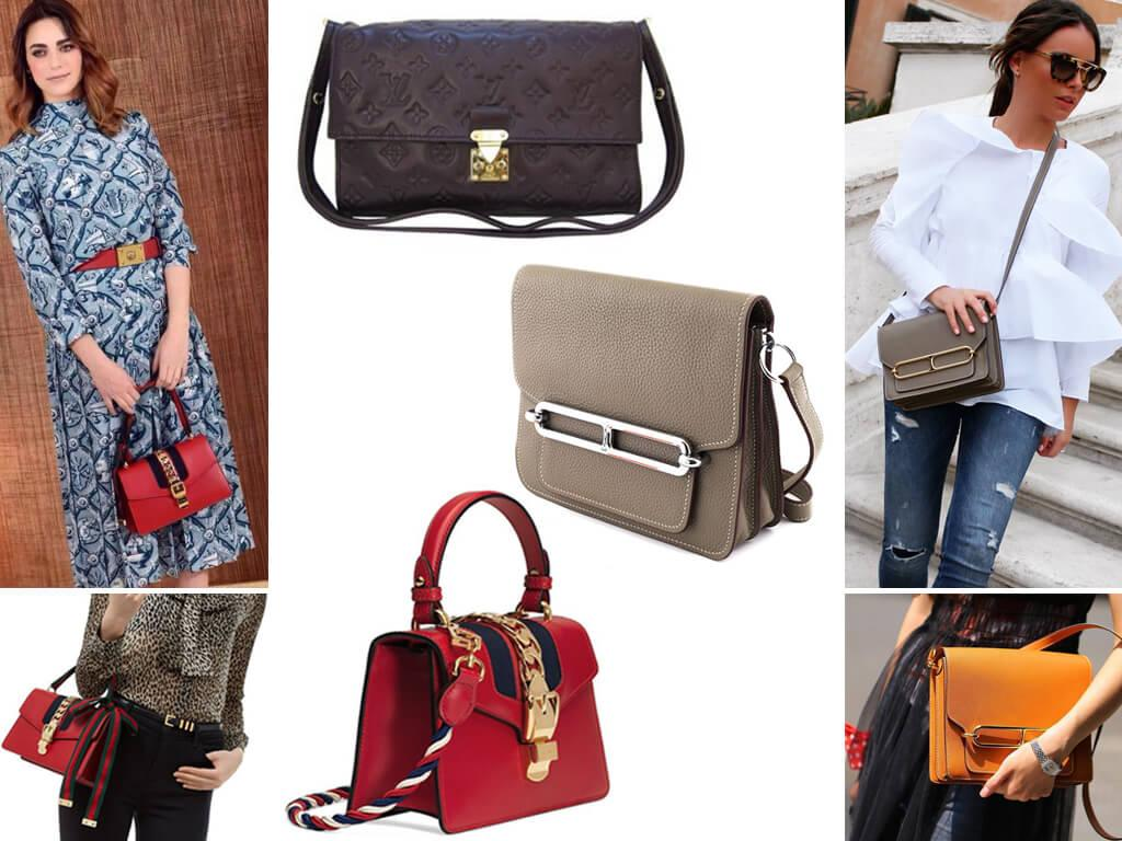Кожаные женские сумки с закрывающимся клапаном