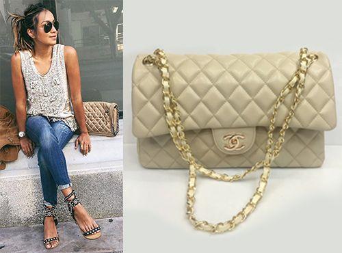 Бежевая клатч-сумка Chanel
