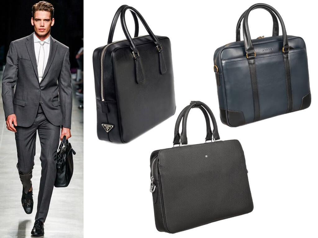 Мужские сумки для документов на молнии