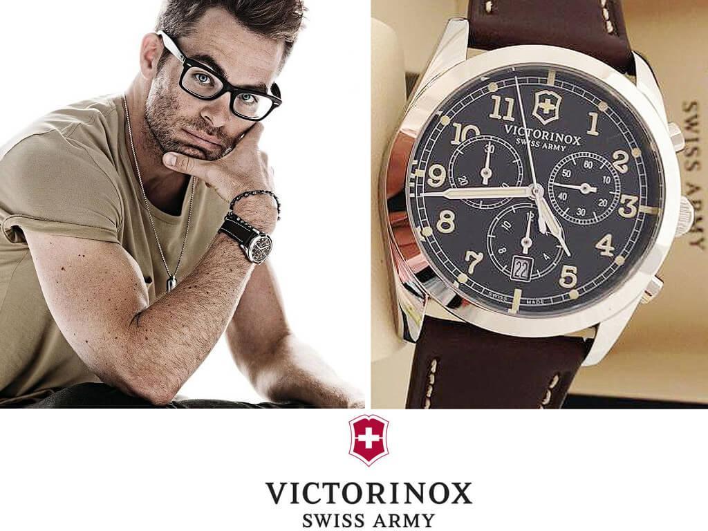 Крис Пайн и его часы марки Викторинокс
