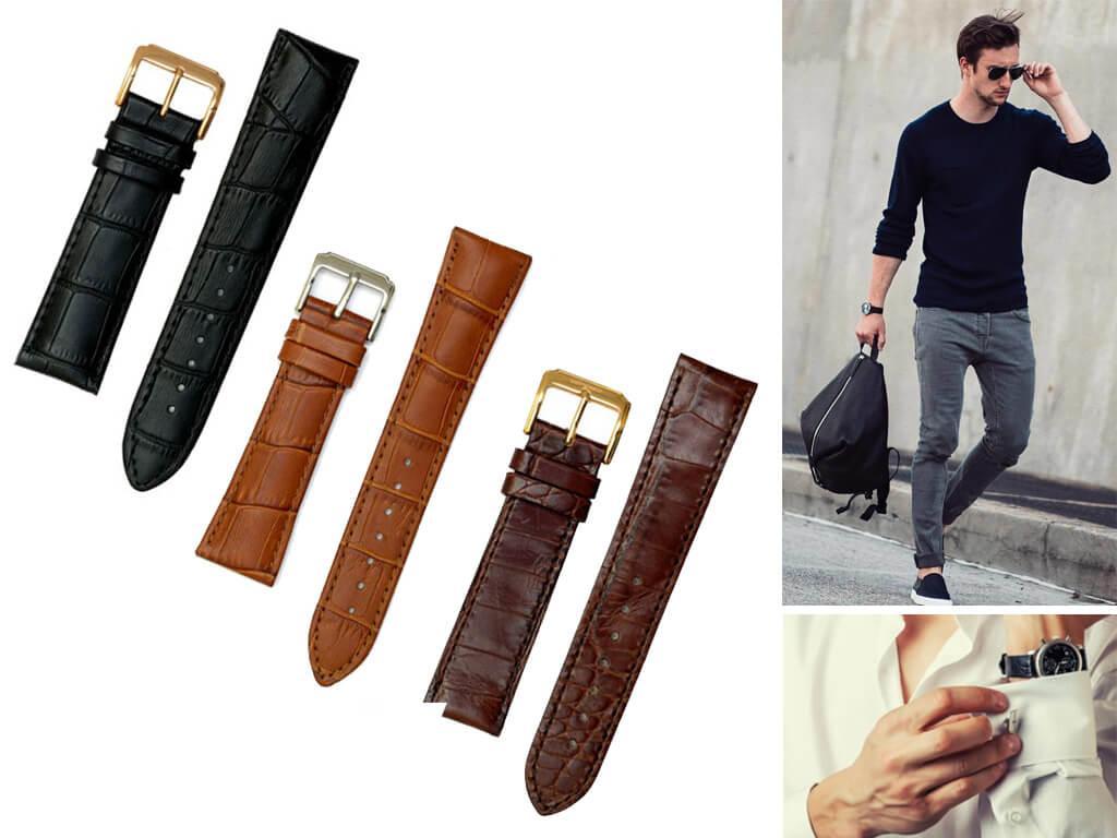 Ремень на часы Breguet может произведен как из натуральной кожи, так и из каучука
