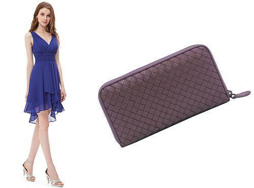 Женский фиолетовый клатч Bottega Veneta