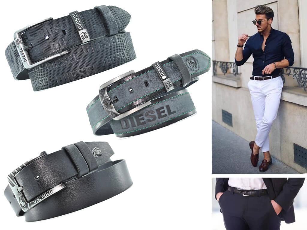 Мужские черные ремни никогда не выходят из моды