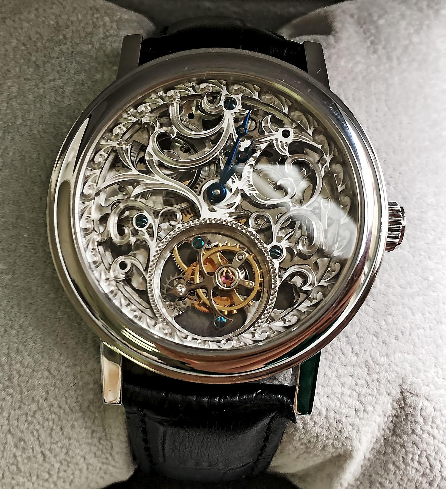 Хронометр Breguet Classique Skeleton Tourbillon Steel Watch