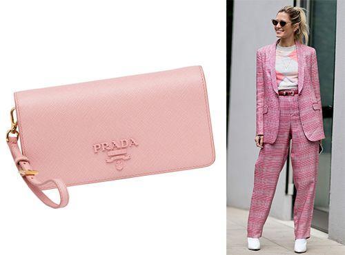Prada клатч женский розовый