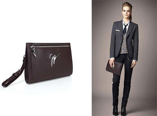 Кожаная клатч-сумка Джузеппе Занотти женская