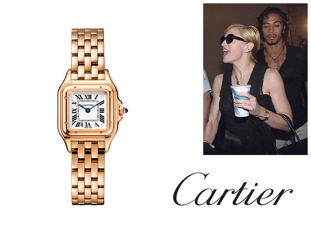 Часы Мадонны Cartier Tank
