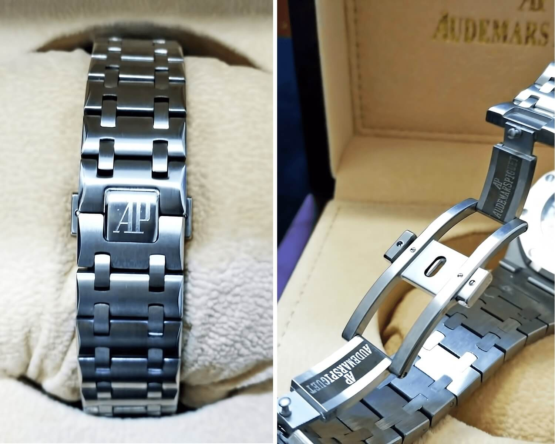 Часы оснащены металлическим браслетом с кнопочной застежкой