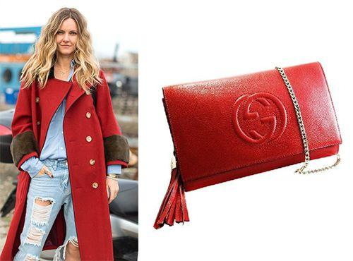 Красная клатч-сумка Gucci