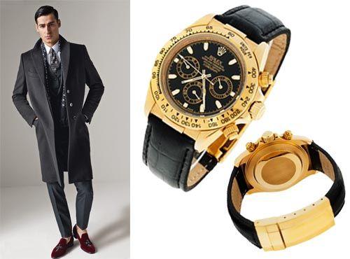 Часы от Rolex с клипсовой застежкой