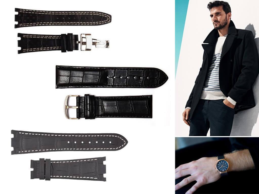 Кожаные ремни для мужских часов Audemars Piguet